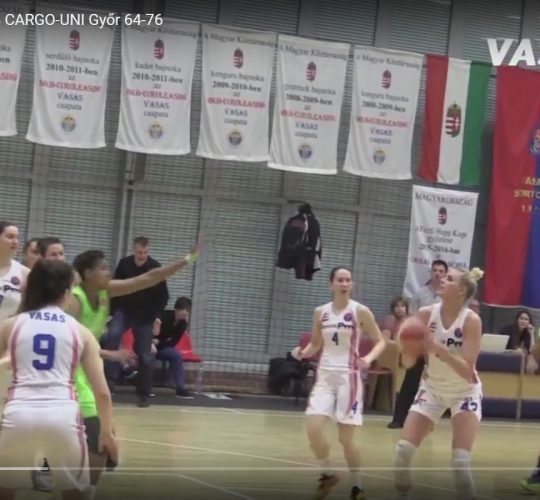 Vasas Akadémia – CMB CARGO-UNI Győr 64-76